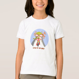 T-shirt fille avec la bicyclette