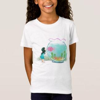 T-Shirt Fille avec la chemise de cuvette de poissons