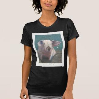T-shirt Fille avec une boucle d'oreille II de perle
