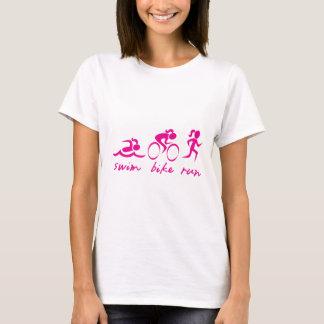 T-shirt Fille courue par vélo de bain tri