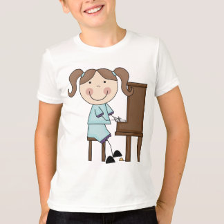 T-shirt Fille de bâton jouant le piano
