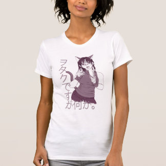 T-shirt Fille de chat d'Otaku
