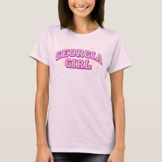 T-shirt Fille de la Géorgie (fleurie, lite)