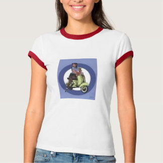 T-shirt fille de scooter