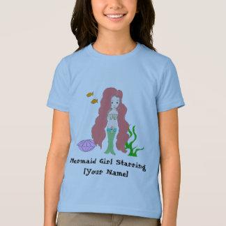 T-shirt Fille de sirène tenant le premier rôle [des