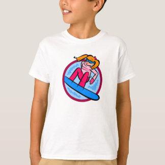 T-shirt Fille de surfeur