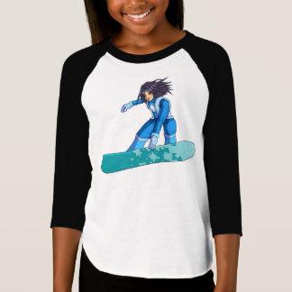 T-shirt Fille de surfeur de Manga