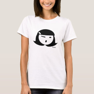 T-shirt Fille de tarte de Cutie (blanc dehors)