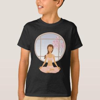 T-shirt fille de yoga
