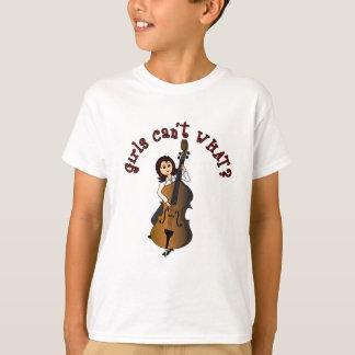 T-shirt Fille droite de double basse de ficelle