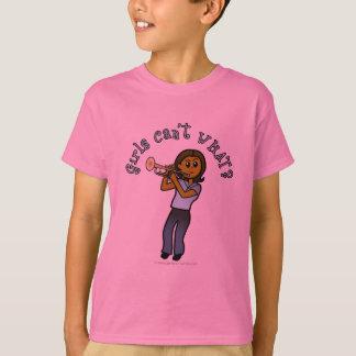 T-shirt Fille foncée jouant la trompette