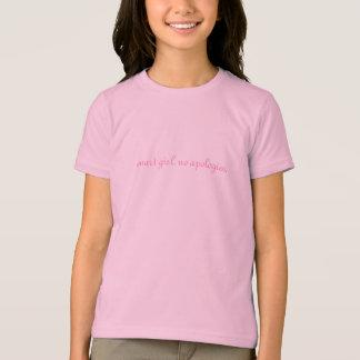 T-shirt fille futée. aucunes excuses