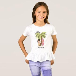 T-shirt Fille hawaïenne de surfer
