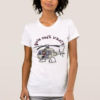 T-shirt Fille légère de pilote d'hélicoptère