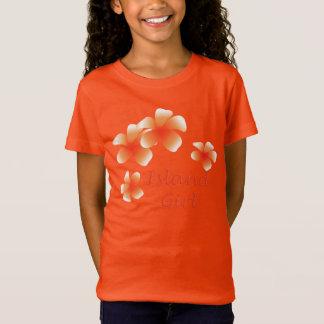 T-Shirt Fille Luau floral tropical d'île hawaïenne