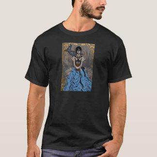 T-shirt Fille punk de vapeur avec Raven mécanique