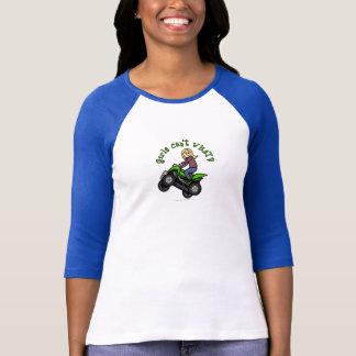 T-shirt Fille quatre de roulement de la lumière ATV |