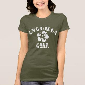 T-shirt Fille rose d'Anguilla