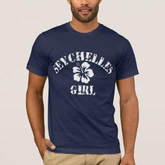 T-shirt Fille rose des Seychelles