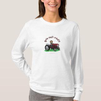 T-shirt Fille rouge-clair d'agriculteur
