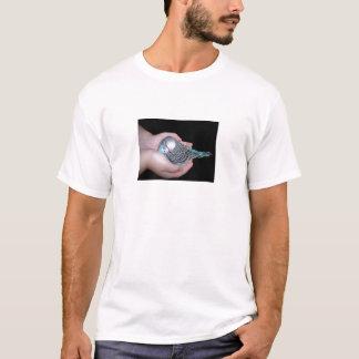 T-shirt Fille tenant la chemise de perruche de bébé