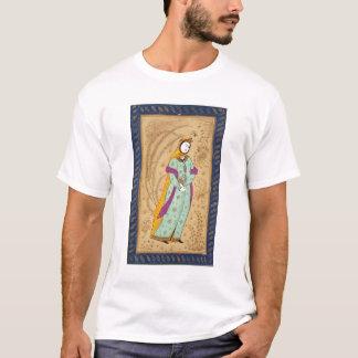 T-shirt Fille tenant un navire de vin et une poire, de la