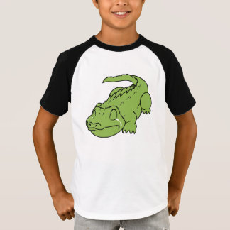 T-shirt Fille verte pleurante de garçon de chemise