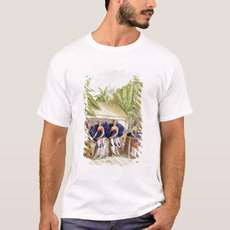 T-shirt Filles de danse polynésiennes, gravées par A.