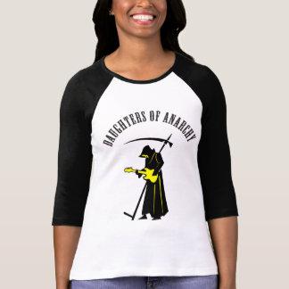 T-shirt Filles de faucheuse de cycliste d'anarchie