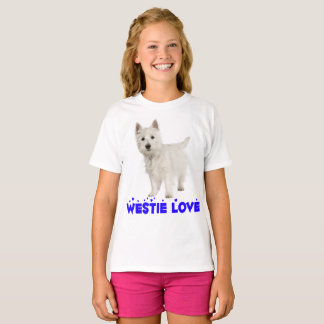 T-shirt Filles des montagnes occidentales blanches de