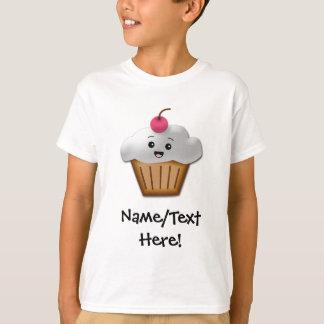 T-shirt Filles heureuses roses mignonnes de petit gâteau