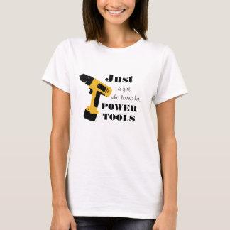 T-shirt Filles qui aiment des machines-outils