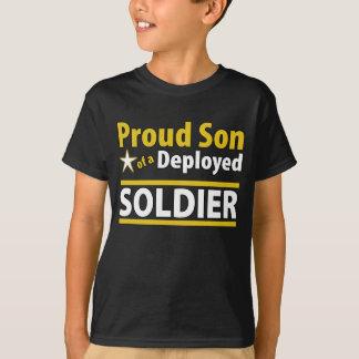 T-shirt Fils fier d'un soldat déployé