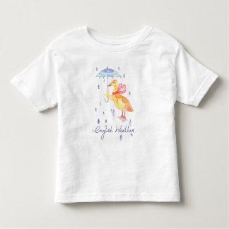 "T-shirt fin de jersey de bébé ""anglais de temps"""