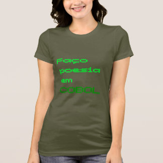 T-shirt Fin de support COBOL de poesia de Faço