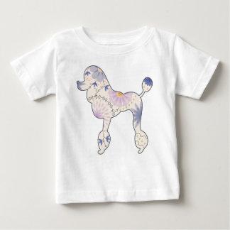 T-shirt fin du Jersey de bébé avec le caniche