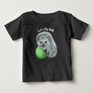 T-shirt fin du Jersey de bébé - hérisson espiègle