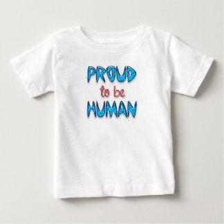 T-shirt fin humain fier de bébé du Jersey
