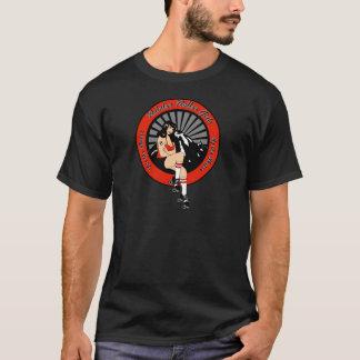 T-shirt Finale de fille de rouleau