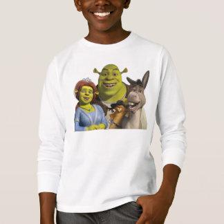 T-shirt Fiona, Shrek, chat dans les bottes, et âne
