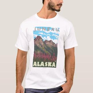 T-shirt Fireweed et montagnes - Juneau, Alaska