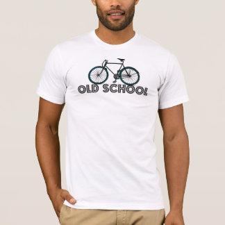 T-shirt fixe de bicyclette de vitesse d'antiquité