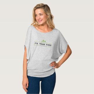 T-shirt FIXEZ VOTRE NOURRITURE et vous fixerez votre vie
