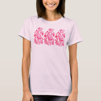 T-shirt Flamant rose de Paisley