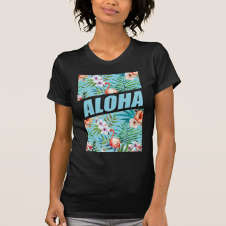 T-shirt Flamant sauvage de plage de Wellcoda Aloha Hawaï