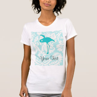 T-shirt Flamant turquoise