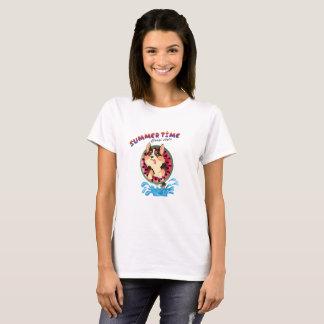 T-shirt Flambe le corgi - été