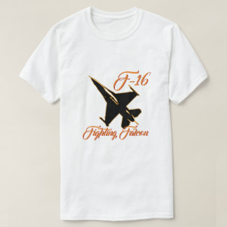 T-shirt Flamme de combat d'orange de silhouette du faucon