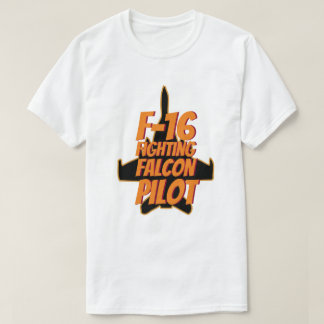 T-shirt Flamme orange pilote de combat du faucon F-16