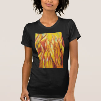 T-shirt Flammes inclinées (expressionisme abstrait)